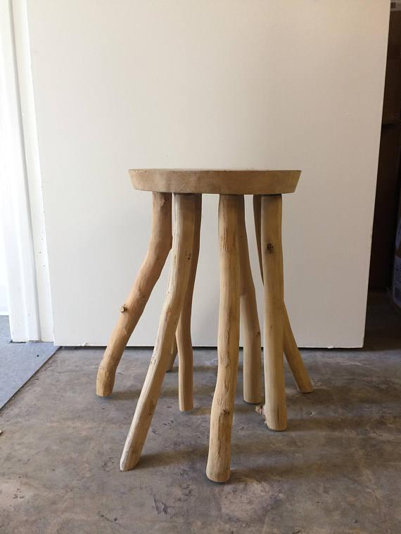 2010s Organic Wood Branch Side Table For Sale   Image 5 Of 5