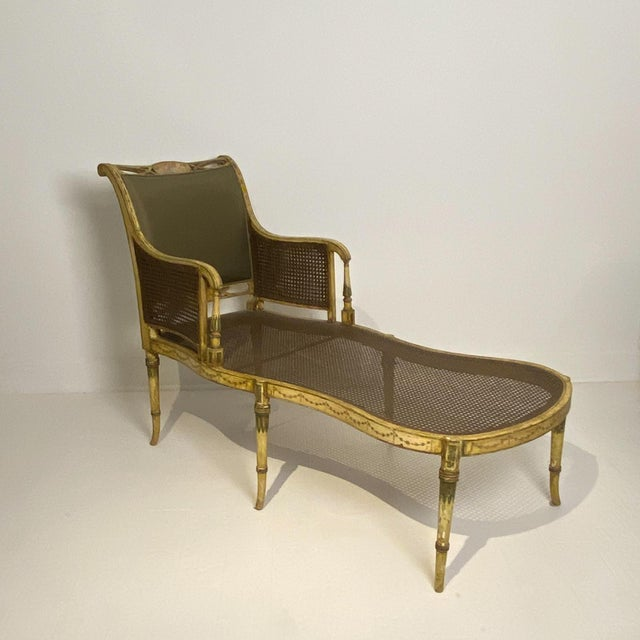 19th Century Painted Fainting Chair, England Circa 1810 For Sale - Image 5 of 11