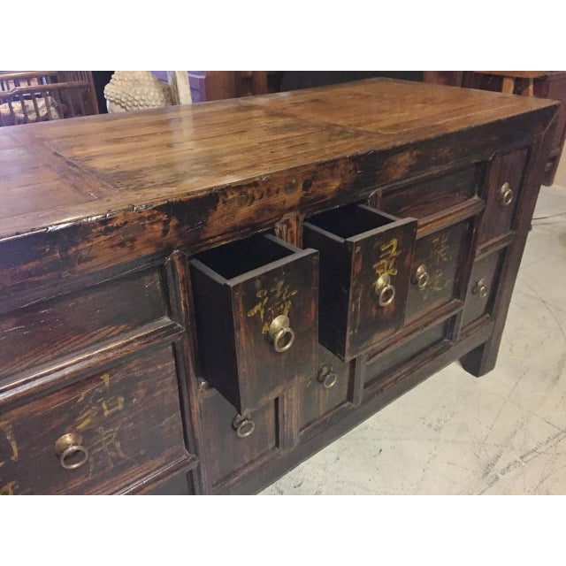 Late 19th Century Antique Solid Wood Chest of Drawers For Sale - Image 5 of 11