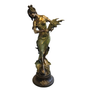 Vintage Bronze Life-Size Statue by Mario Nardini For Sale