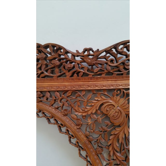 Anglo-Indian Antique Anglo Indian Carved Wood Frame For Sale - Image 3 of 9