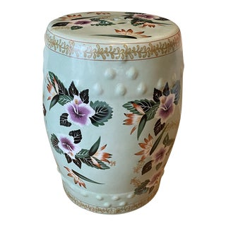 Vintage Ceramic Chinese Garden Stool For Sale