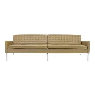 Roland Rainer Leather and Chrome Sofa Austria 1956 Model 462s For Sale