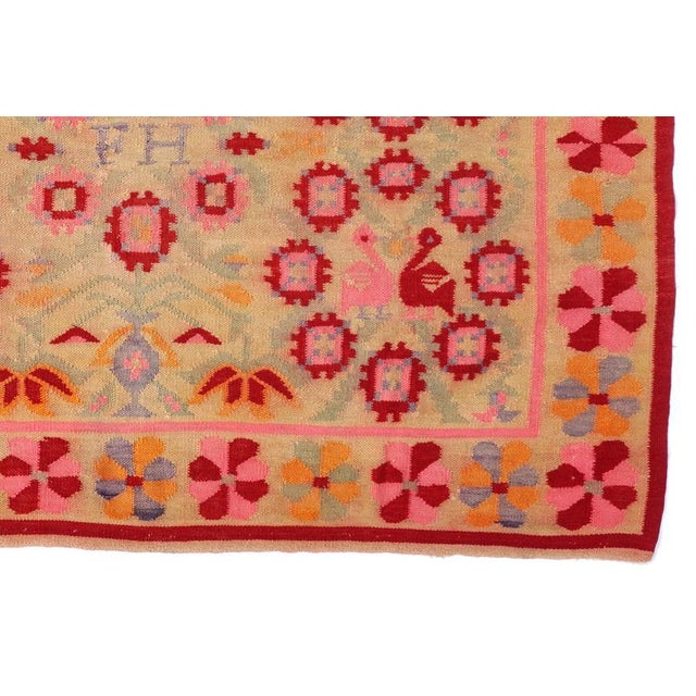 Vintage Peruvian Rug Fernanda Handwoven - 4′11″ × 6′9″ - Image 5 of 6