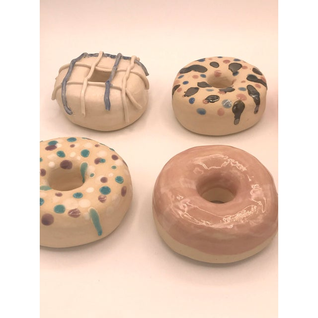 Pop Art Surface Ceramics Wall Donuts - Set of 6 For Sale - Image 3 of 9