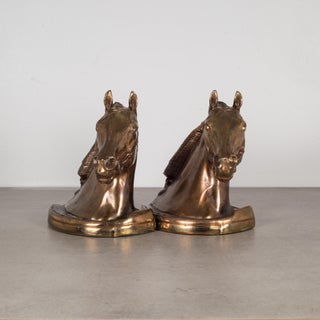 Bronze Plated Horse Head Bookends by Glady's Brown and Dodge C.1946 Preview