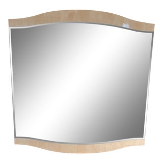 Scandinavian Design Sloped Lacquered Maple Mirror For Sale