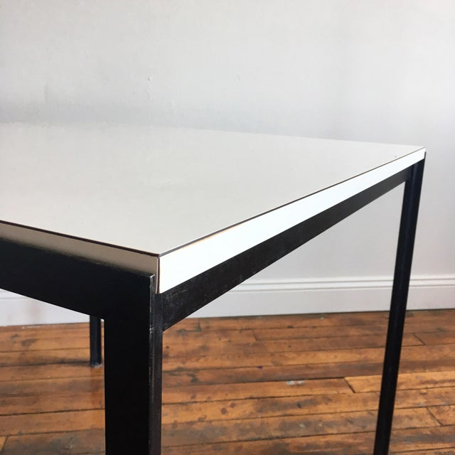 Florence Knoll 1960s Vintage Florence Knoll T-Angle Dining Table For Sale - Image 4 of 10