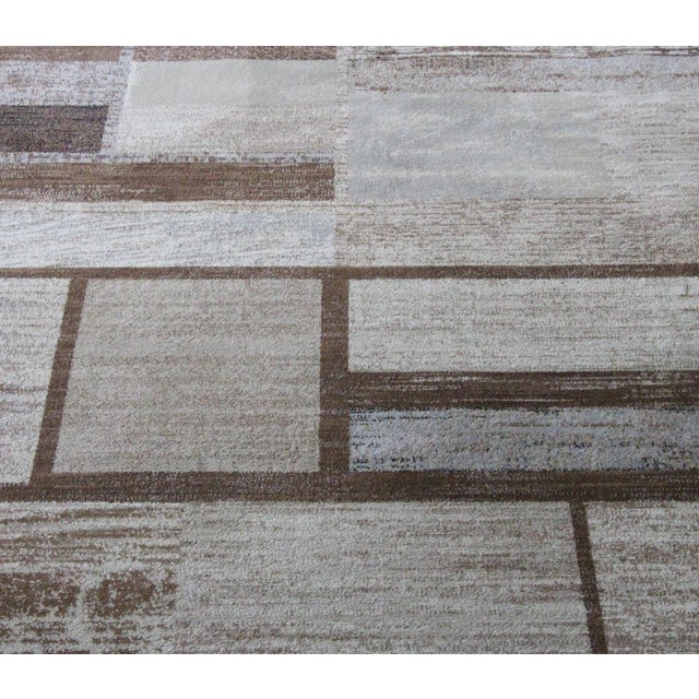 "Brown Neutral Rug - 5'3"" X 7'7"" For Sale - Image 4 of 5"