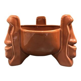 Trader Vic's Easter Island Tiki Bowl For Sale