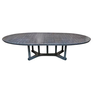 Cerused Dining Table by McGuire Furniture For Sale