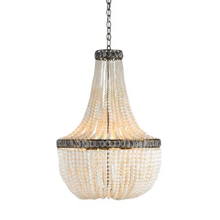 Currey & Company Hedy Beaded Chandelier, Cream