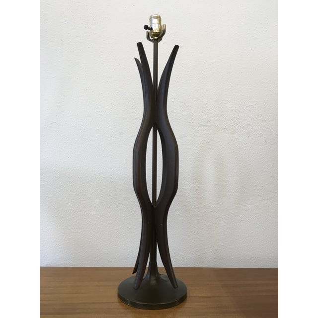 Mid-Century Modern Walnut Table Lamp - Image 2 of 5
