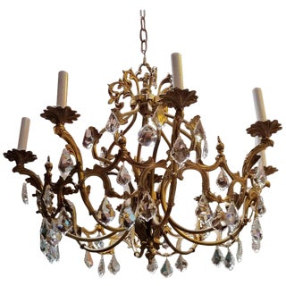 French Belle Epoque 8-Light Chandelier, Early 1900s For Sale