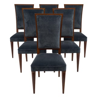 French Art Deco Period Mahogany Chairs For Sale