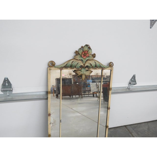 Venetian Style Wrought Iron Console and Mirror For Sale - Image 10 of 12