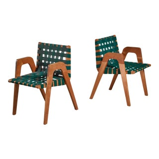 Robert Kayton Pair of Side Chairs, Usa For Sale