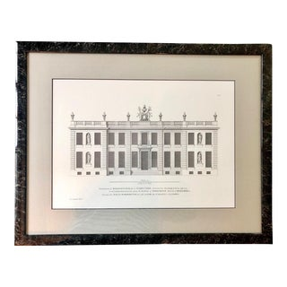 C. Campbell Decorative English Architectural Print For Sale