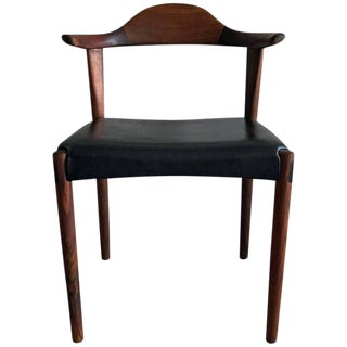 1950s Harry Ostergaard Sculpted Rosewood Horn Chair For Sale