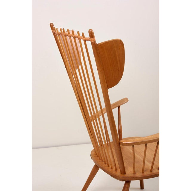 Albert Haberer Wingback Armchair in Solid Wood, Germany, 1950 For Sale - Image 12 of 13