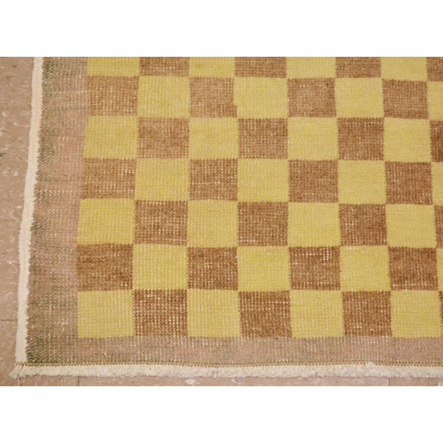"""Shabby Chic Vintage Turkish Hand Knotted Whitewash Organic Wool Fine Weave Rug,3'8""""x5'8"""" For Sale - Image 3 of 5"""