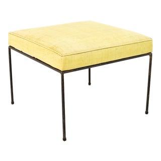 Paul McCobb Mid Century Upholstered Iron Stool Ottoman For Sale