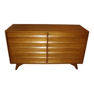 1950s Mid-Century Modern Jamestown Lounge Co. Oak Dresser For Sale