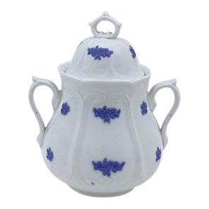 English Lavender Sprig Sugar Bowl For Sale