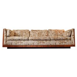 Milo Baughman Mid-Century Rosewood Case Sofa For Sale
