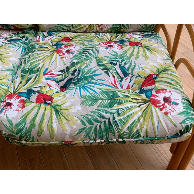 Italian Mid-Century Modern Bamboo Set of Lounge Patio With Settee and Rocking For Sale - Image 10 of 11
