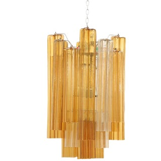 Venini Two Toned Chandelier For Sale