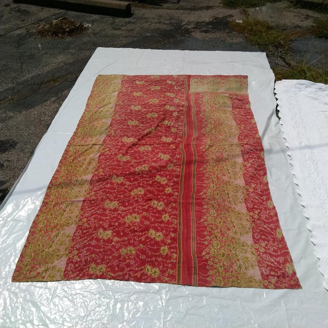 Vintage Sari Fabric Textile For Sale In Kansas City - Image 6 of 6