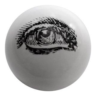 1960's Piero Fornasetti Surrealist Ceramic Eye Eyeball Paperweight