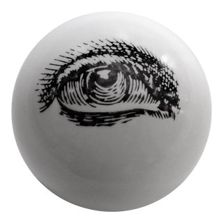 1960's Piero Fornasetti Surrealist Ceramic Eyeball Paperweight