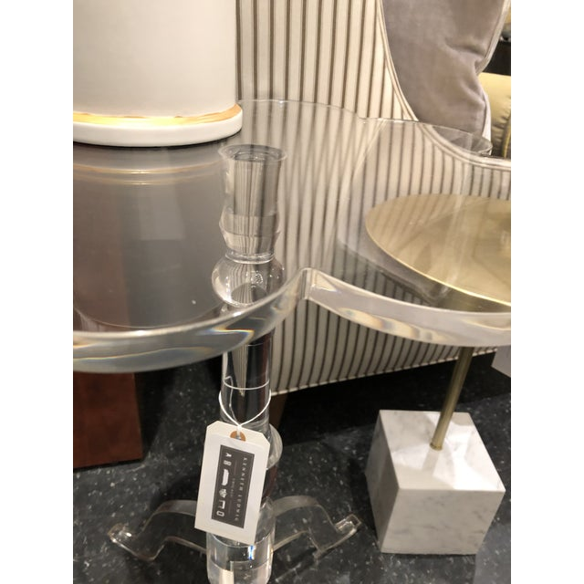 Chelsea House Inc Chelsea House Mt Pleasant Arcylic Side Table For Sale - Image 4 of 8