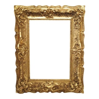 Opulent 19th Century French Louis XV Style Gold Leaf, Giltwood, and Plaster Frame For Sale