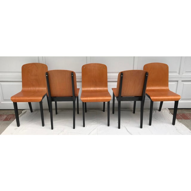 Mid-Century Modern Vintage Rounded Bent Plywood Chairs - Set of 5 For Sale - Image 3 of 9