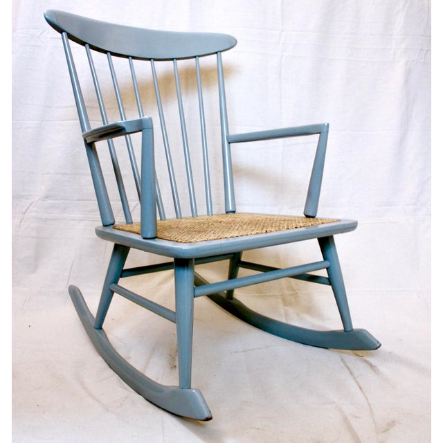 Vintage Mid Century Danish Modern Rocking Chair For Sale - Image 9 of 9
