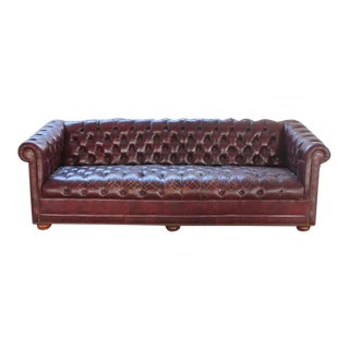 Vintage Chesterfield Tufted Leather Sofa Chairish
