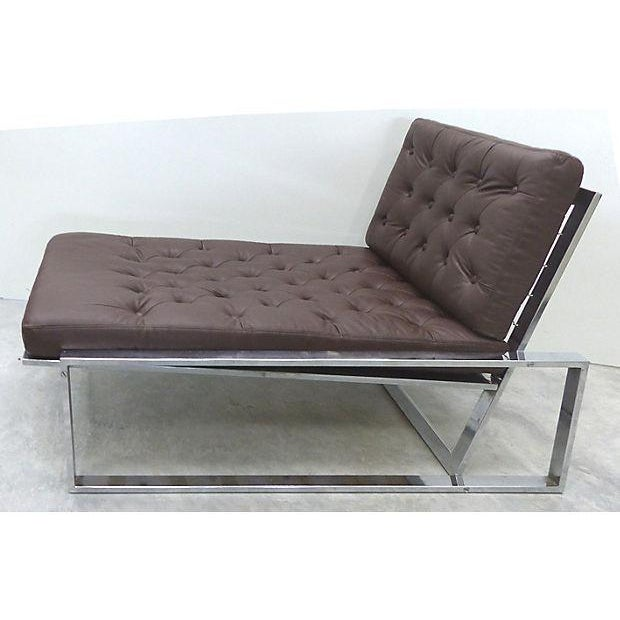 1970's Petite Italian Chaise Lounge - Image 3 of 7