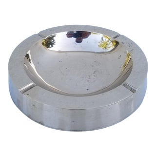 Vintage 1970s Brass Round Ashtray For Sale