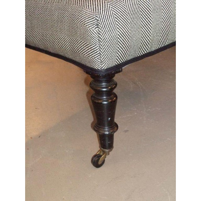 Textile 19th Century Napoleon III Slipper Chair For Sale - Image 7 of 10