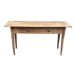 Pine Mine Pine Wood Console For Sale