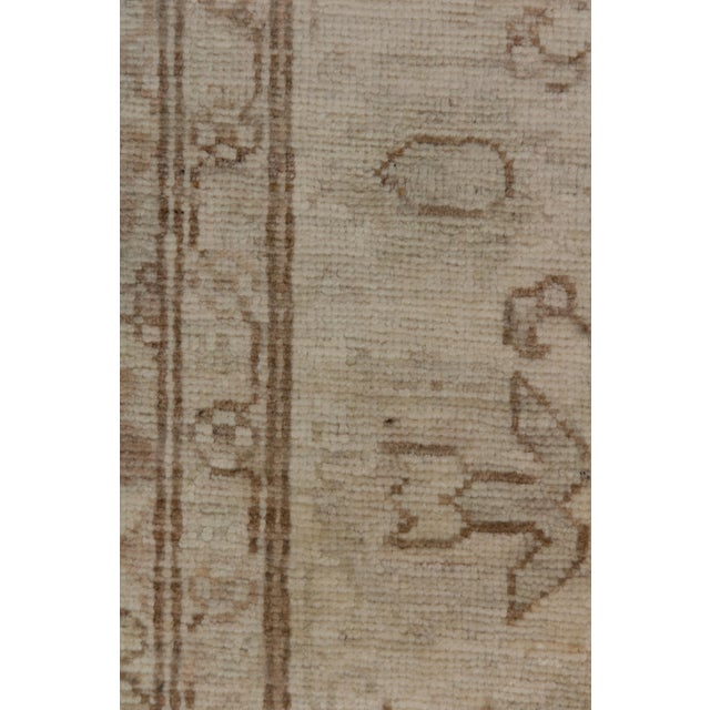 "Traditional Oushak, Hand Knotted Runner - 4'2"" X 10'9"" For Sale - Image 3 of 3"