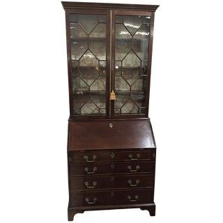 18th Century Chippendale Mahogany Bureau Secretary Bookcase For Sale