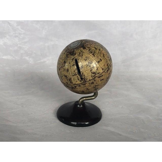 Denoyer-Geppert Vintage World Desk Globe Die Cast Metal Bank For Sale - Image 4 of 13