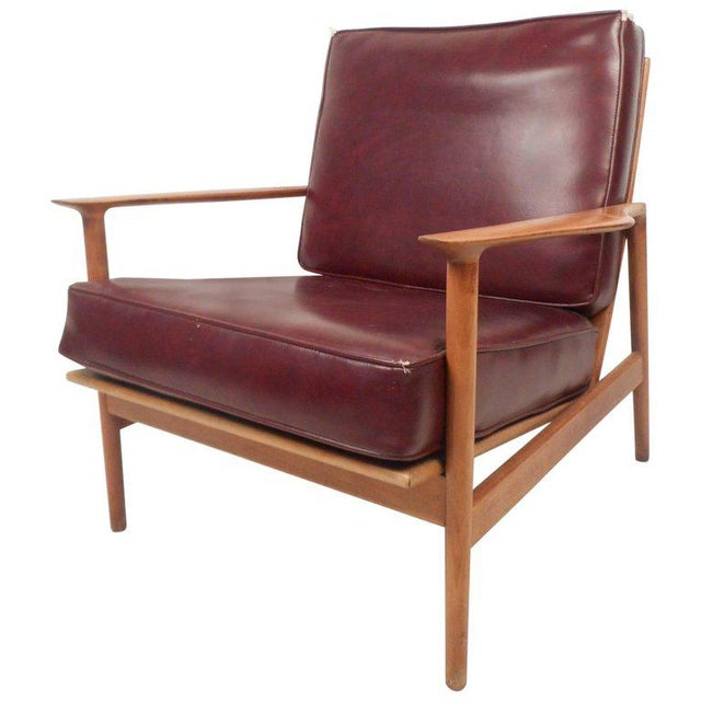 Mid-Century Modern Danish Teak Lounge Chair For Sale - Image 10 of 10