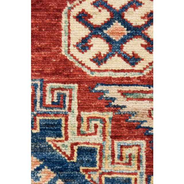 """New Kazak Hand Knotted Area Rug - 4'10"""" x 7'3"""" - Image 3 of 3"""