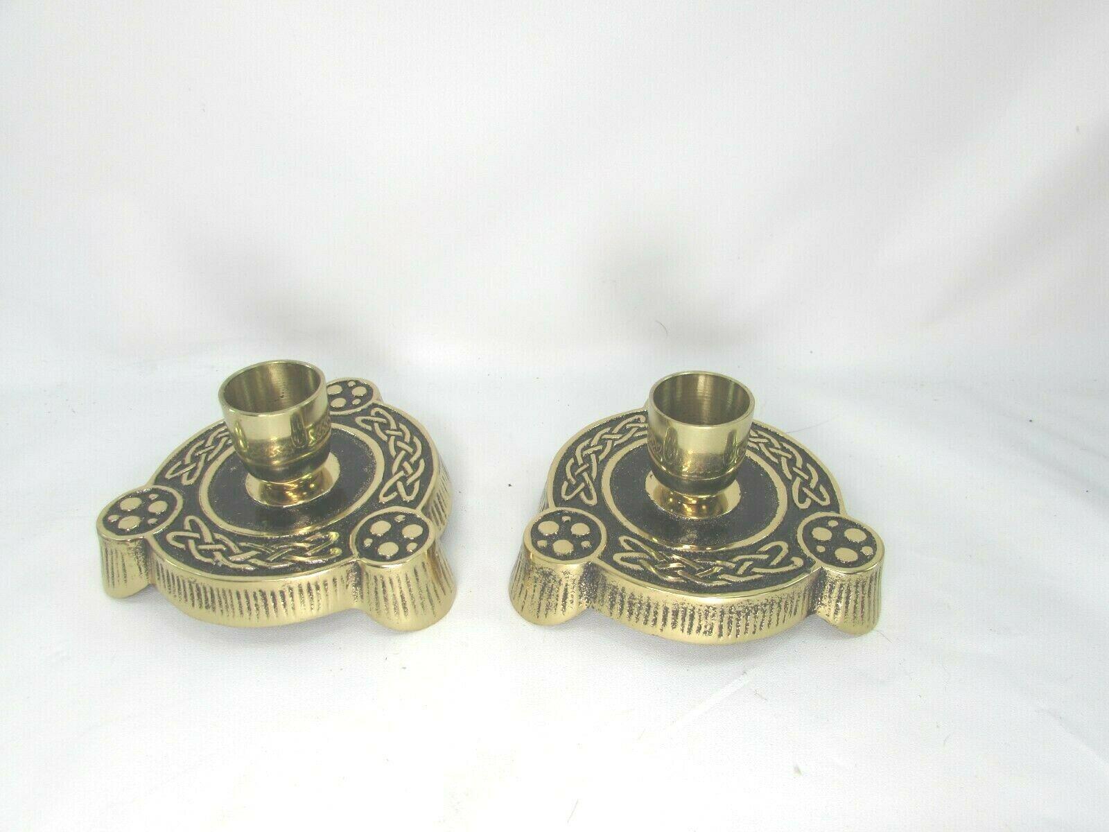 Pair Terra Sancta Guild Brass Candle Sticks