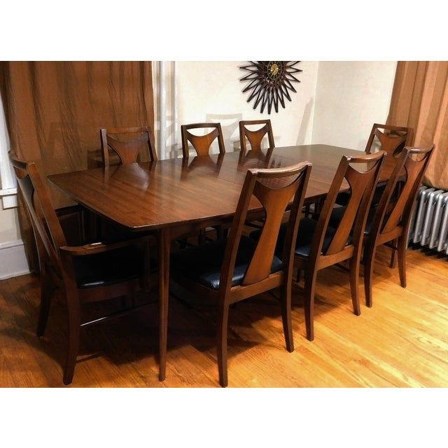 Mid-Century Modern Kent Coffey Perspecta Dining Set - Image 4 of 7